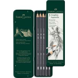 Ołówki Faber Castell Graphite Aquarelle - zestaw 5 szt