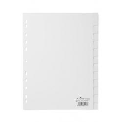 Przekładki A4 Durable 12 części - białe  / 1 kpl.