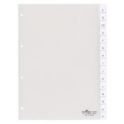 Przekładki A4 Durable alfabetyczne A-Z - transparentne  / 1 kpl.