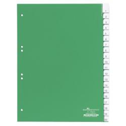 Przekładki A4 Durable alfabetyczne A-Z / 20 części - zielone / 1 kpl.