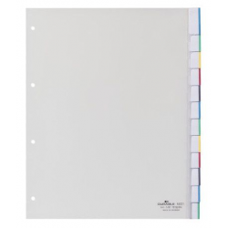 Przekładki A4 Durable numeryczne poszerzane 1-10 / 10 części - transparentne  / 1 kpl.