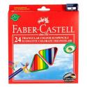 Kredki ołówkowe EKO - 24 kolory + temperówka