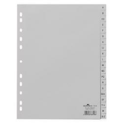 Przekładki A4 Durable alfabetyczne A-Z  / 20 części - jasnoszare  / 1 kpl.