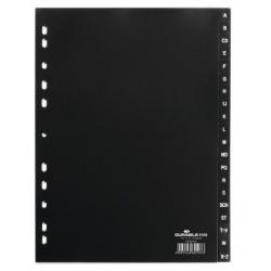 Przekładki A4 Durable alfabetyczne A-Z  / 20 części - czarne  / 1 kpl.