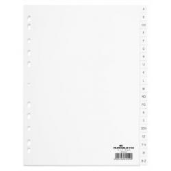 Przekładki A4 Durable alfabetyczne A-Z / 20 części - białe / 1 kpl.