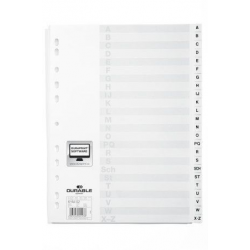 Przekładki A4 Durable alfabetyczne A-Z  / 24 części - białe  / 1 kpl.