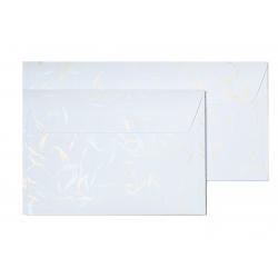 Koperta ozdobna Galeria Papieru Wiatr C6/10szt. - biała