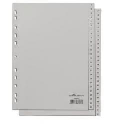Przekładki A4 Durable numeryczne 1-52  / 52 części - jasnoszare  / 1 kpl.
