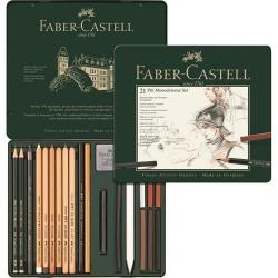 Zestaw ołówków i grafitów Pitt Monochrome Faber-Castell - 21 elementów
