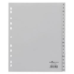 Przekładki A4 Durable alfabetyczne poszerzane A-Z - jasnoszare  / 1 kpl.