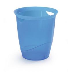 Kosz na śmieci TREND - niebieski transparentny