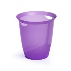 Kosz na śmieci TREND - fioletowy transparentny