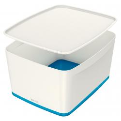 Pojemnik duży Leitz MyBox z pokrywą - biało-niebieski