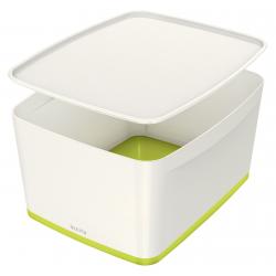 Pojemnik duży Leitz MyBox z pokrywą - biało-zielony