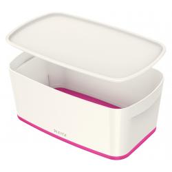 Pojemnik mały Leitz MyBox z pokrywką - biało-różowy