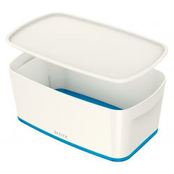 Pojemnik mały Leitz MyBox z pokrywką - biało-niebieski