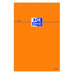 Blok notatnikowy Oxford Everyday A5 w kratkę - pomarańczowy