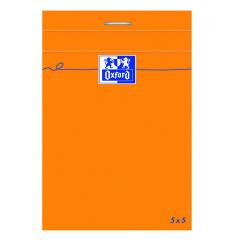 Blok notatnikowy Oxford Everyday A7 w kratkę - pomarańczowy