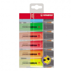Zakreślacz Stabilo BOSS komplet w etui - 6 kolorów