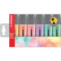 Zakreślacze Stabilo BOSS pastel komplet w etui - 6 kolorów