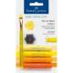 Kredki pigmentowe Faber-Castell Gelatos - 4 sztuki - żółte