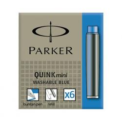 Naboje Parker Quink krótkie (6 szt.) - kolor niebieski