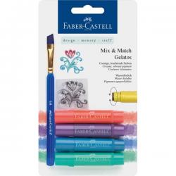 Kredki pigmentowe Faber-Castell Gelatos - 4 sztuki - metaliczne