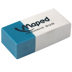 Gumka Maped Duo biało-niebieska