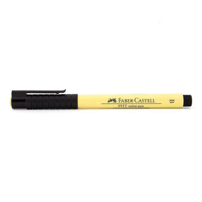 Pisak artystyczny Faber-Castell - PITT ARTIST PEN B - 104 - light yellow glaze /cytrynowy/