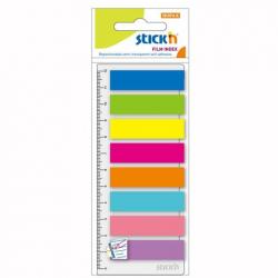 Zakładki indeksujące Stick'n 12x45mm z linijką - 8 kolorów neon