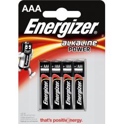 Bateria Energizer Alkaline Power AAA / LR3 - 4szt.