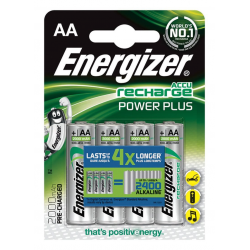 Baterie akumulatorki Energizer Power Plus AA 2000mAh - 4szt.
