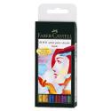 Pisaki artystyczne Faber-Castell - PITT ARTIST PEN B - BASIC - 6 kolorów