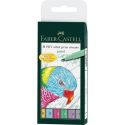 Pisaki artystyczne Faber-Castell - PITT ARTIST PEN B - PASTEL - 6 kolorów