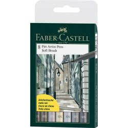 Pisaki artystyczne Faber Castell - PITT ARTIST PEN SB - 8 kolorów