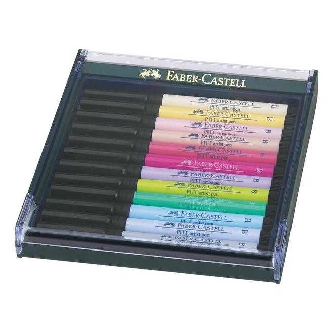 Pisaki artystyczne Faber Castell - PITT ARTIST PEN - PASTEL - 12 kolorów