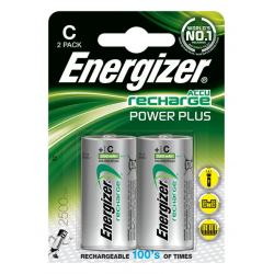 Baterie akumulatorki Energizer Power Plus C/2500mAh - 2szt.