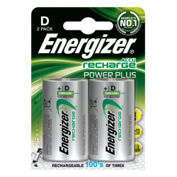 Baterie akumulatorki Energizer Power Plus D/2500mAh - 2szt.