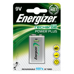 Baterie akumulatorki Energizer Power Plus E, HR22 9V/175mAh - 1szt.