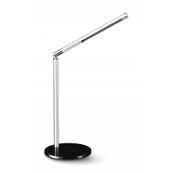 Lampka biurkowa Cep CLED-100 ze ściemniaczem - srebrno-czarna