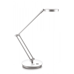 Lampka biurkowa Cep CLED-400 ze ściemniaczem - srebrno-biała