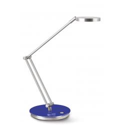 Lampka biurkowa Cep CLED-400 ze ściemniaczem - srebrno-niebieska
