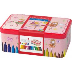 Pisaki Faber-Castell Connector - Szkatułka - 33 kolory