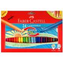 Pisaki z wsuwaną końcówką piszącą - 24 kolory