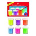 Farby tempery w pojemnikach - neon - 6 kolorów