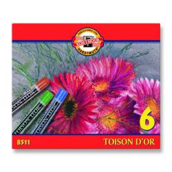 Kredki Koh-I-Noor pastele suche TOISON D'OR - 6 kolorów