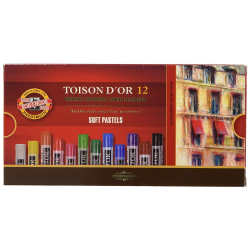 Kredki Koh-I-Noor pastele suche TOISON D'OR - 12 kolorów