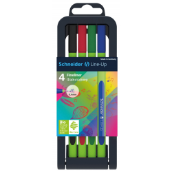 Cienkopis SCHNEIDER Line-Up - stojak 4 kolory