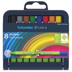 Cienkopis SCHNEIDER Link-It - stojak 8 kolorów