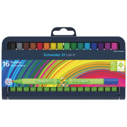 Cienkopis SCHNEIDER Link-It - stojak 16 kolorów